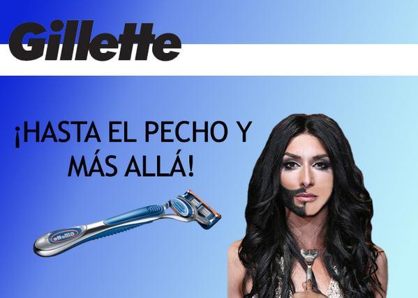 meme Gilette Conchita Wurt